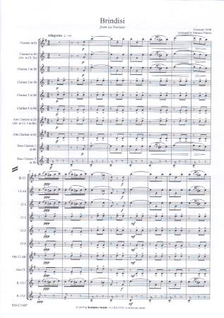 BRINDISI from La Traviata (score & parts)