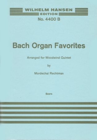 BACH ORGAN FAVOURITES score only available