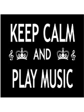 FRIDGE MAGNET Keep Calm & Play Music