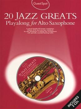 GUEST SPOT 20 Jazz Greats Playalong + Online Audio