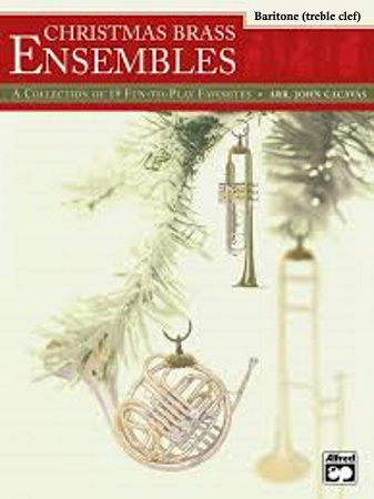 CHRISTMAS BRASS ENSEMBLES baritone treble clef