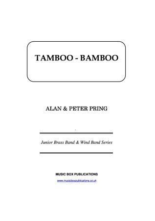 TAMBOO BAMBOO (score & parts)