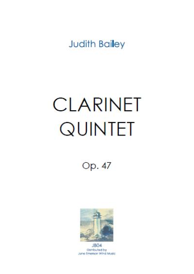 CLARINET QUINTET Op.47 score & parts
