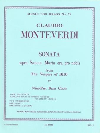 SONATA SOPRA SANCTA MARIA (choral part)