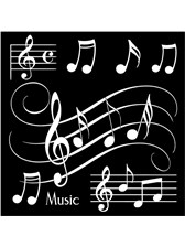 COASTERS Musical Notes (Black - Pack of 4)