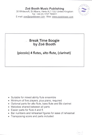 BREAK TIME BOOGIE (score & parts)