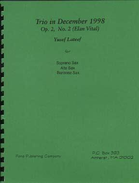 TRIO IN DECEMBER 1998, Op.2 No.2 (Elan Vital)