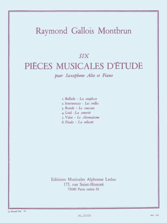 SIX PIECES MUSICALES D'ETUDE