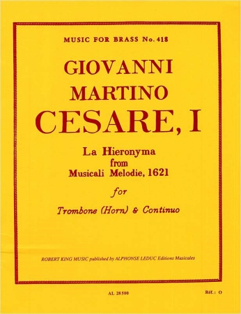 LA HIERONYMA from Musicali Melodie (1621)