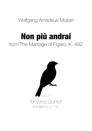 NON PIU ANDRAI (score & parts)