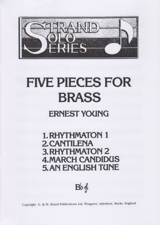 FIVE PIECES FOR BRASS (treble/bass clef)