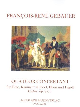 QUATUOR CONCERTANT (Quartet) in C major Op.27 No.1 score & parts