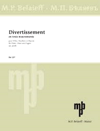 DIVERTISSEMENT Op. Posth. (score & parts)