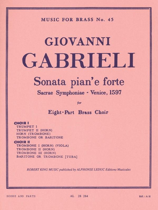 SONATA PIAN' E FORTE (score & parts)