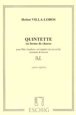 QUINTETTE EN FORME DE CHOROS (set of parts)