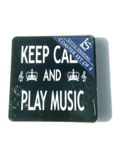 COASTERS Keep Calm and Play Music (Pack of 4)