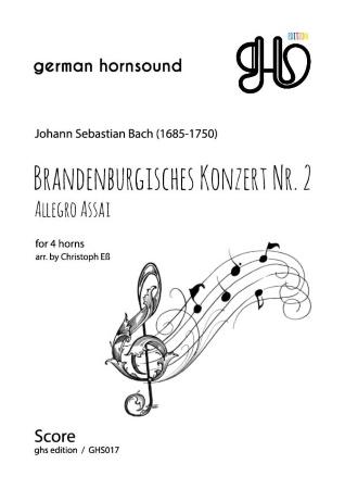 BRANDENBURG CONCERTO No.2 Allegro Assai (score & parts)