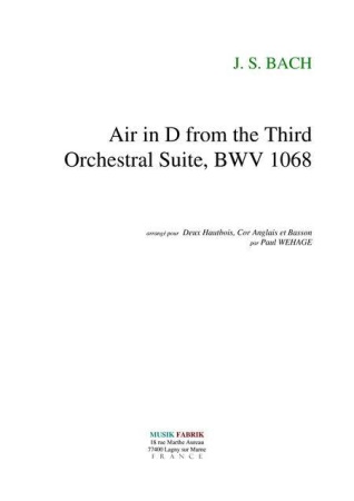 AIR in D from Orchestral Suite No.3 BWV1068