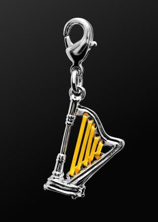 METAL CHARM Harp