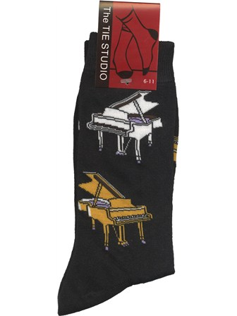 SOCKS Grand Piano (Black, Size 6-11)