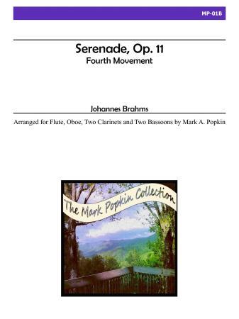 SERENADE Op.11 Fourth Movement (score & parts)