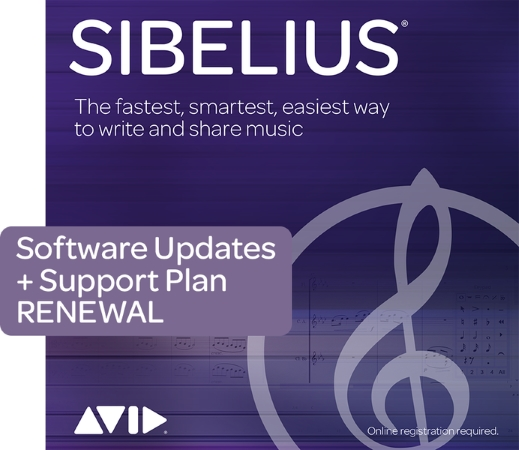 SIBELIUS Support Plan Renewal for 1 year (Digital Delivery)