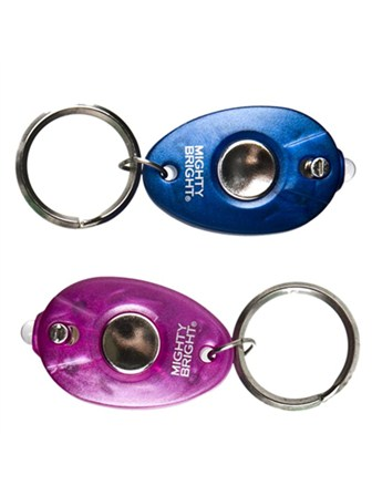 MIGHTY BRIGHT Keychain Light Twin Pack (Blue/Pink)