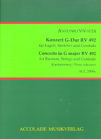 CONCERTO in G major RV492 FVIII/29 PV128