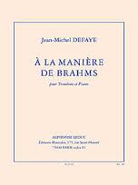 A LA MANIERE DE BRAHMS