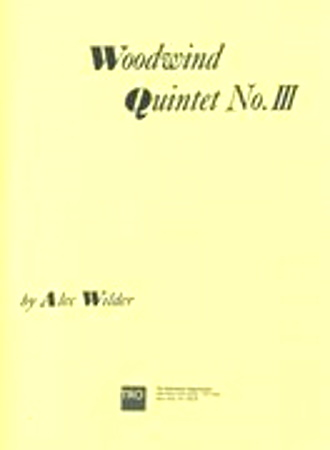 WOODWIND QUINTET No.3 (score & parts)
