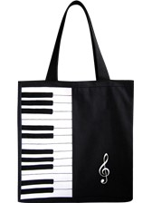 TOTE BAG Piano & Treble Clef Design