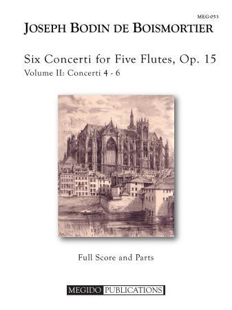 SIX CONCERTI FOR FIVE FLUTES Op.15, Volume II