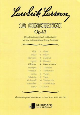 CONCERTINO Op.45 No.5