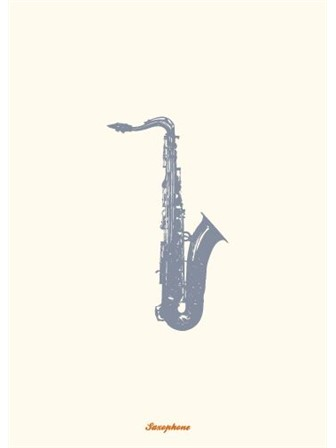 GREETING CARD Saxophone
