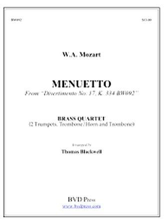 MENUETTO from Divertimento No. 17, K 334