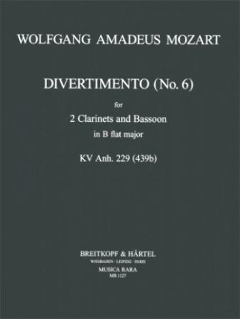 DIVERTIMENTO No.6 in Bb major K.Anh.229 (K439b)
