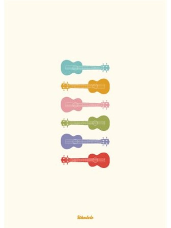 GREETING CARD Ukeleles