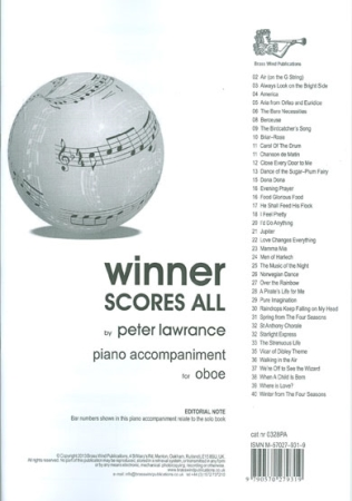 WINNER SCORES ALL Piano Accompaniment
