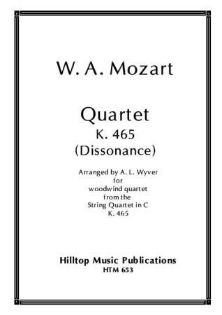QUARTET K465 'Dissonance' (score & parts)