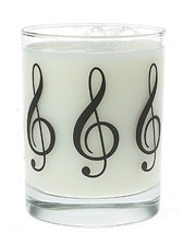 GLASS TUMBLER Treble Clef