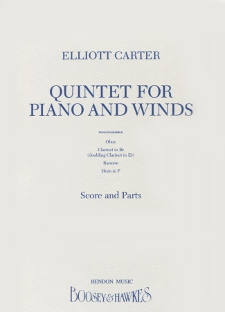 QUINTET for Piano and Winds (score & parts)