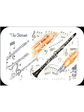PLACEMAT Clarinet (Pack of 4)