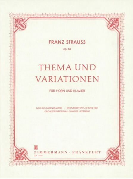 THEME AND VARIATIONS Op.13