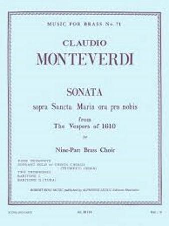 SONATA sopra Sancta Maria ora pro nobis (score & parts)