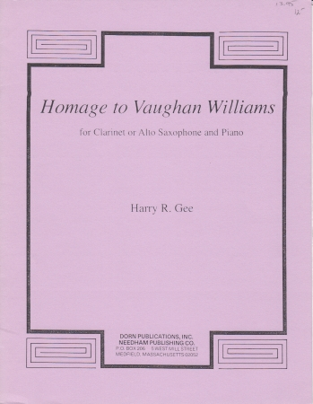 HOMAGE TO VAUGHAN WILLIAMS
