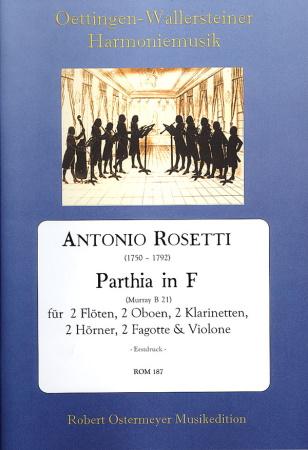 PARTHIA in F major RWV B21 score & parts