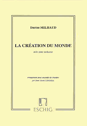 LA CREATION DU MONDE Op.81b: Suite (score)