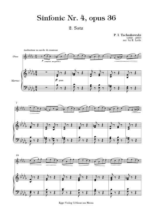 SYMPHONY No.4 Op.36 - Second Movement