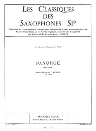 PANURGE Ariette