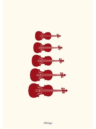 GREETING CARD String Instruments